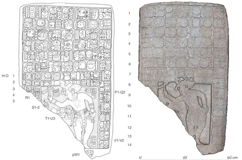 drawing of a tablet found at the site