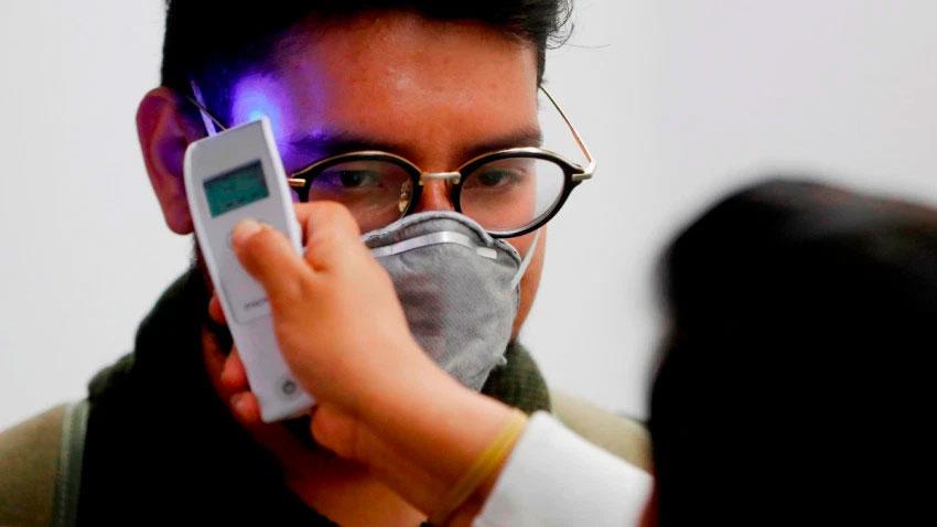 Testing for coronavirus.