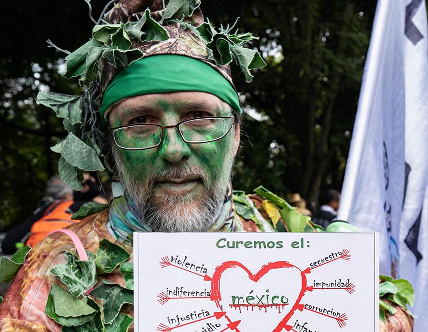 Environmental and anti-violence campaigner Arturo Malvido Conway.