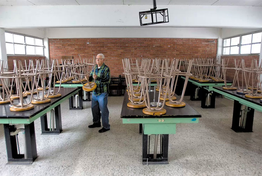 Classrooms are now empty in states where schools have shut down.