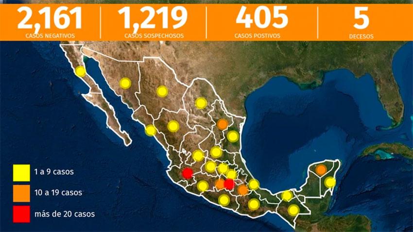 Tuesday night's coronavirus map.