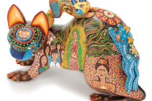 Mother Protector Cat, a Oaxacan alebrije by Fátima Janice Fuentes