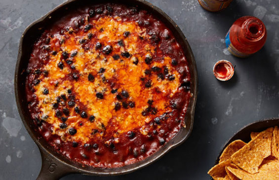This Black Bean Bake can be served as a hot dip or a side dish.