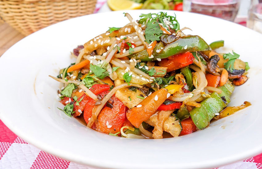 Serve jicama raw or cooked, as in a stir fry.