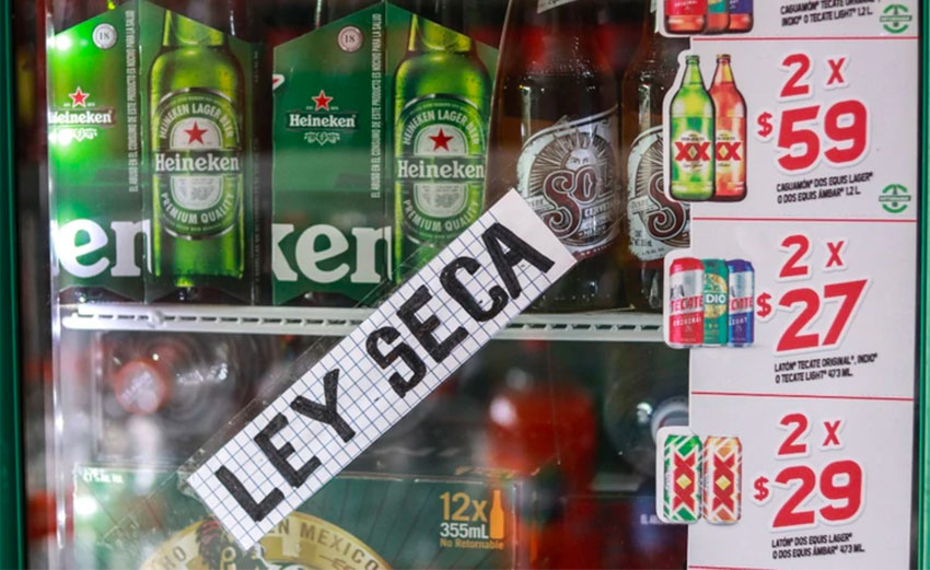 Ley seca, or a 'dry law,' is being introduced in various states.