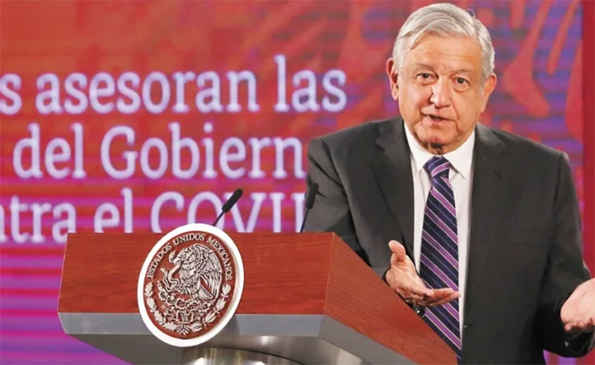 López Obrador: 'People are behaving as they should.'