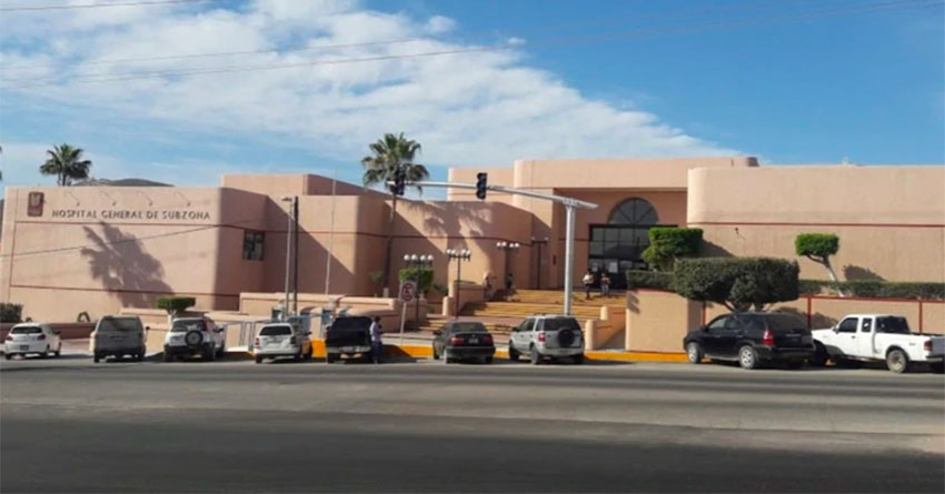 The IMSS hospital in Cabo San Lucas, where 42 workers have tested positive for Covid-19.