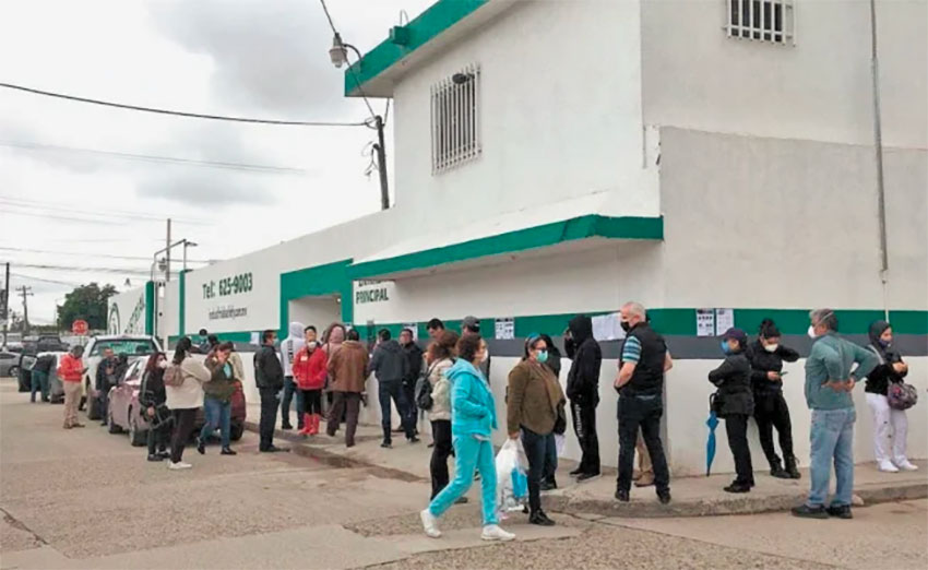 The Tijuana clinic where 21 workers have been infected with Covid-19.