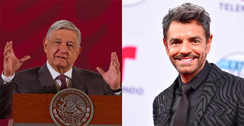 AMLO, left, and Derbez