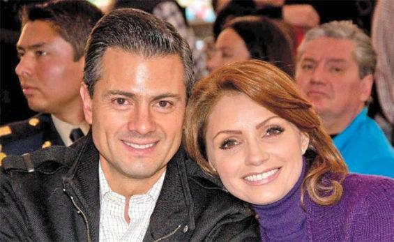 Former president Peña Nieto and his now ex-wife Angélica Rivera.