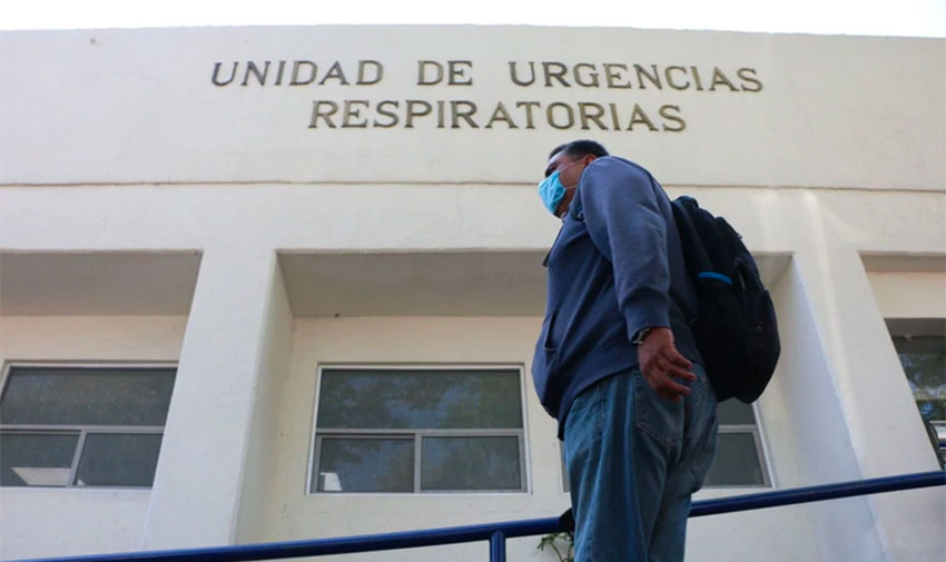 Hospitals are filling in Mexico City.