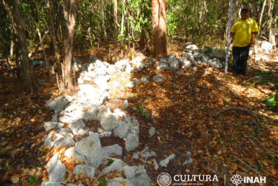 Remains of a settlement found in Mahahual, Quintana Roo