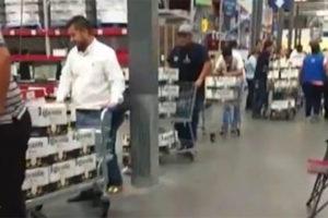 Consumers stock up in Nuevo León.
