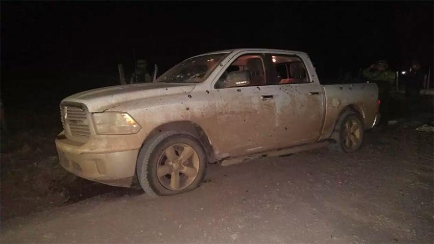 A vehicle at the scene of Chihuahua ambush.
