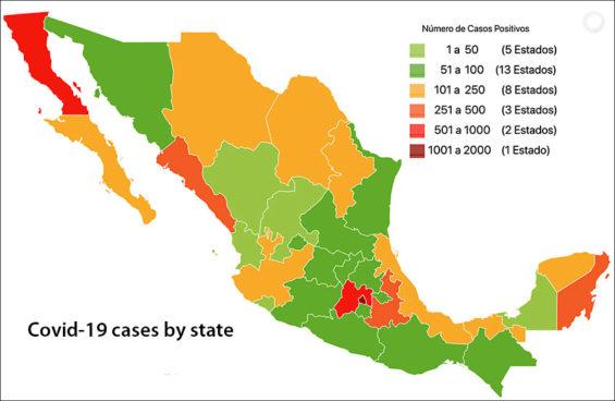 Coronavirus cases as of Thursday.