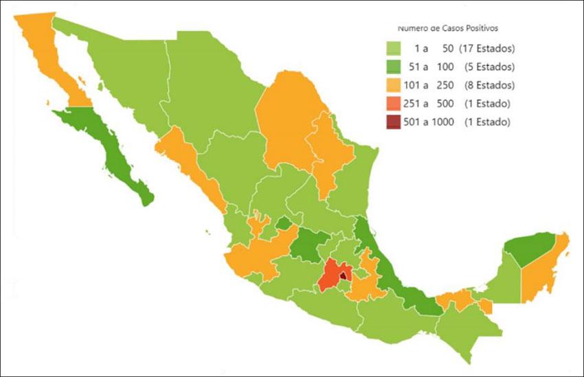 Coronavirus cases as of Thursday evening.