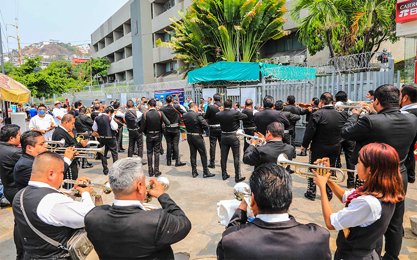 Mariachis perform Friday in Guerrero.
