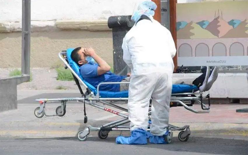 A man with coronavirus symptoms is admitted to a Tijuana hospital.