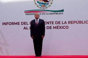 President López Obrador at the National Palace on Sunday.