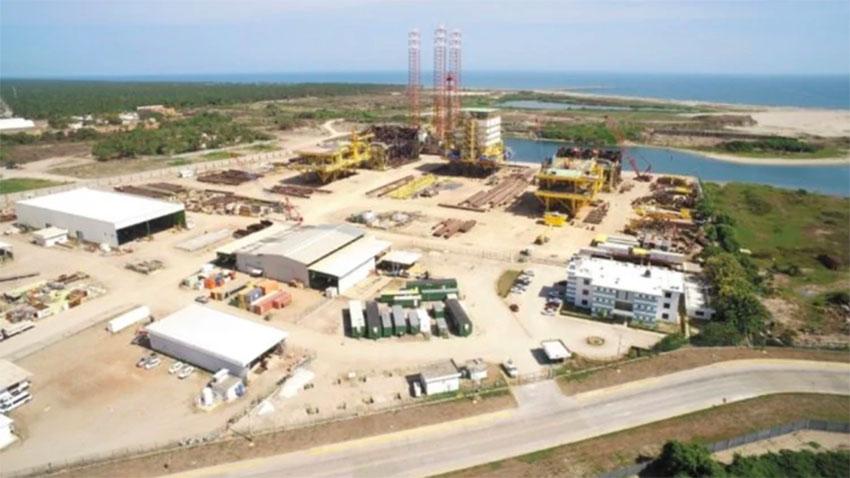 The Dos Bocas refinery, under construction in Tabasco.