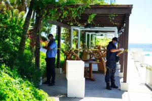 Officials put up a sanitary barrier around the Bahía de Banderas resort.
