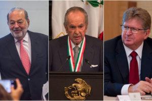 Businessmen Slim, Balliéres and Larrea in favor of the plan,