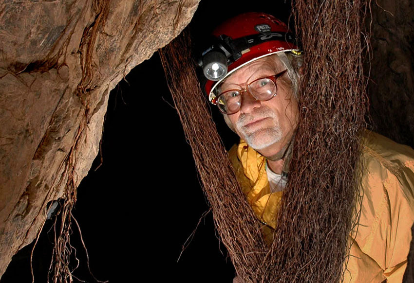 The ancient spelunker, author John Pint.