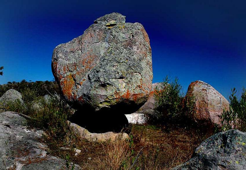 A balanced rock.