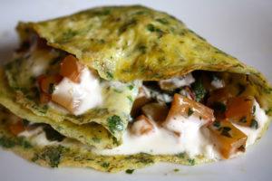 An unforgettable swiss chard omelette.