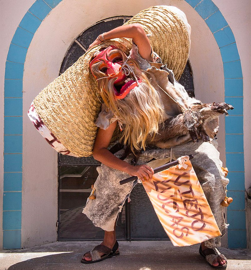 The Viejo Lucas is a character that appears in various but not all versions of the tiger dance.