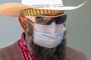 bearded masked man