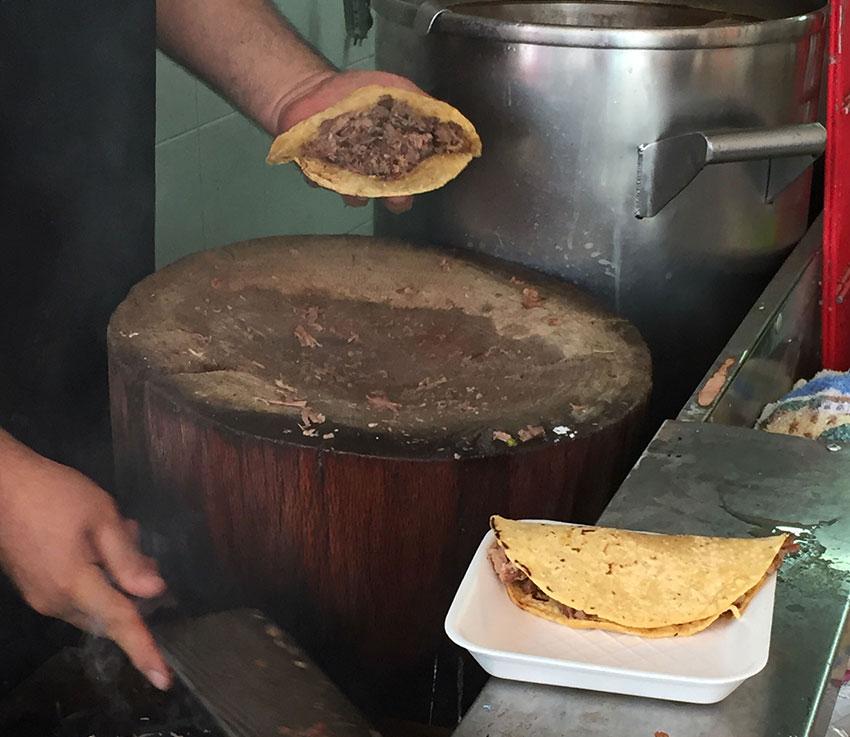 Birria tacos at La Terraza don Don Chuy.