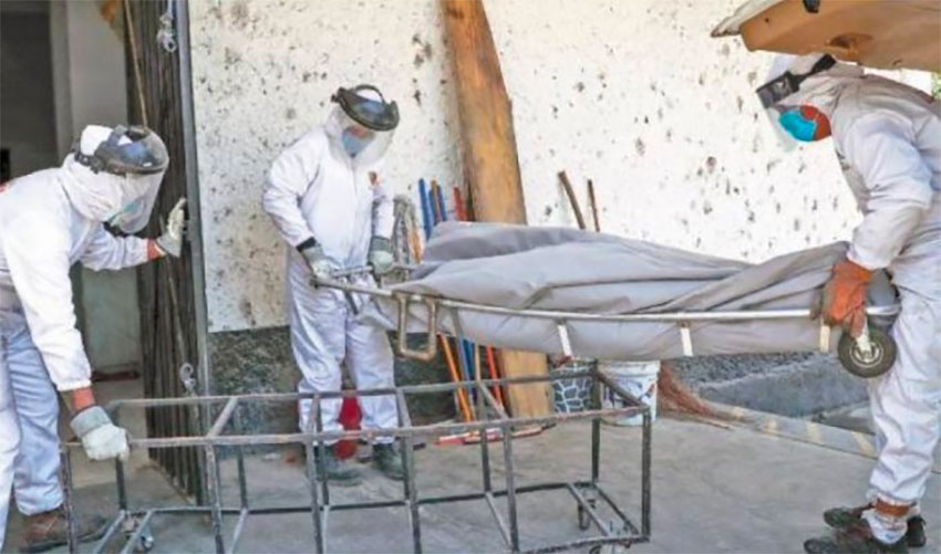 Reports that Mexico City crematoriums were being overwhelmed first appeared on the weekend.