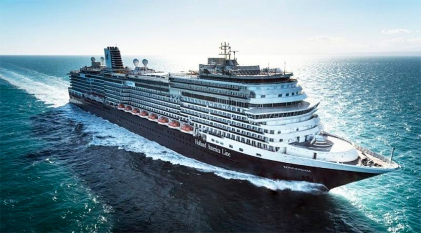 The Koningsdam, on which more than 1,100 workers are stranded in Puerto Vallarta.