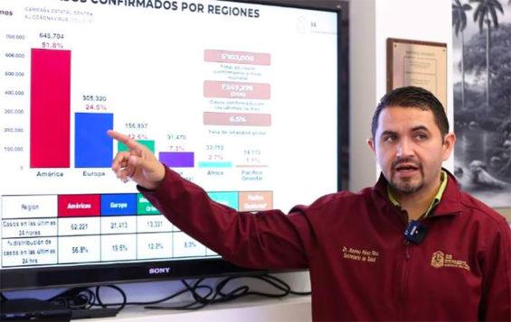 Baja Health Minister Alonso Óscar Pérez Rico.