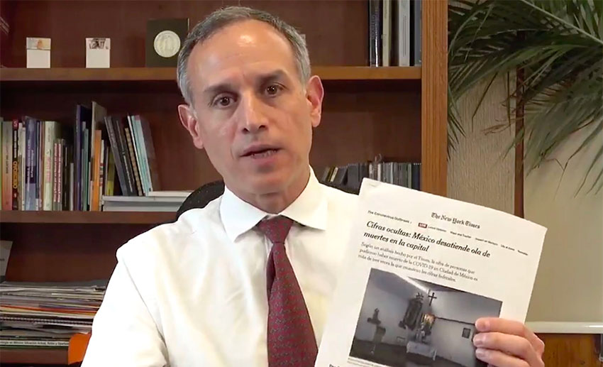 López-Gatell responds to the reports in a video message.