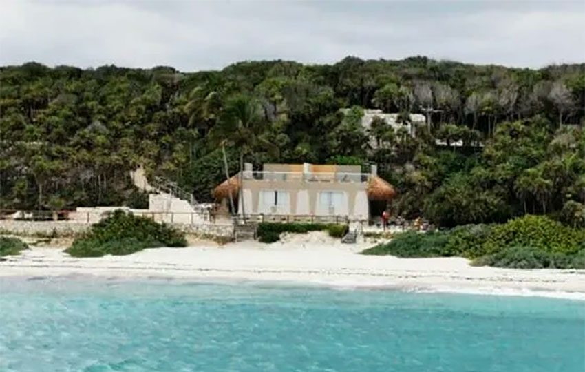 The waterfront mansion in Tulum.
