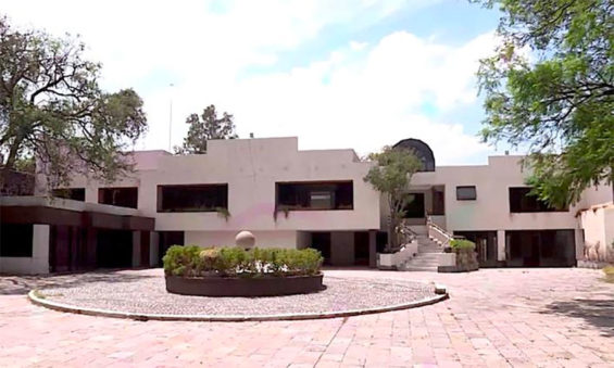 The drug lord's mansion in the Jardines de Pedregal neighborhood of Mexico City.