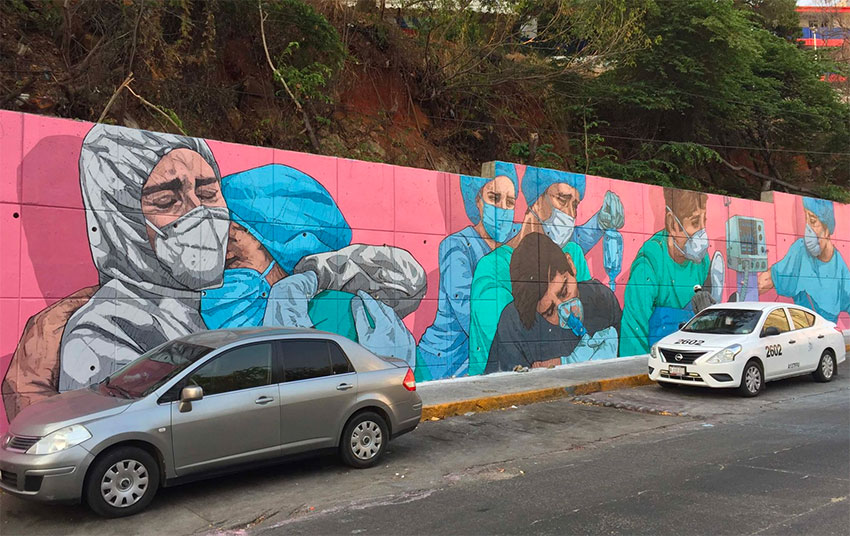 Heroes Also Cry, one of 12 murals painted in Acapulco.