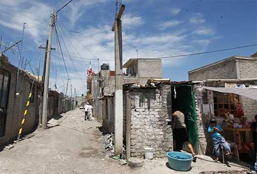 A poor area of the borough of Iztapalapa, Mexico City.
