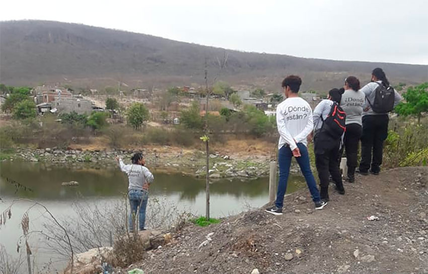 Wearing shirts bearing the message, 'Where are they?' Sinaloa searchers look for bodies.