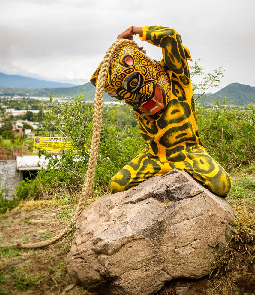 A Tecuan dancer of Morelos.