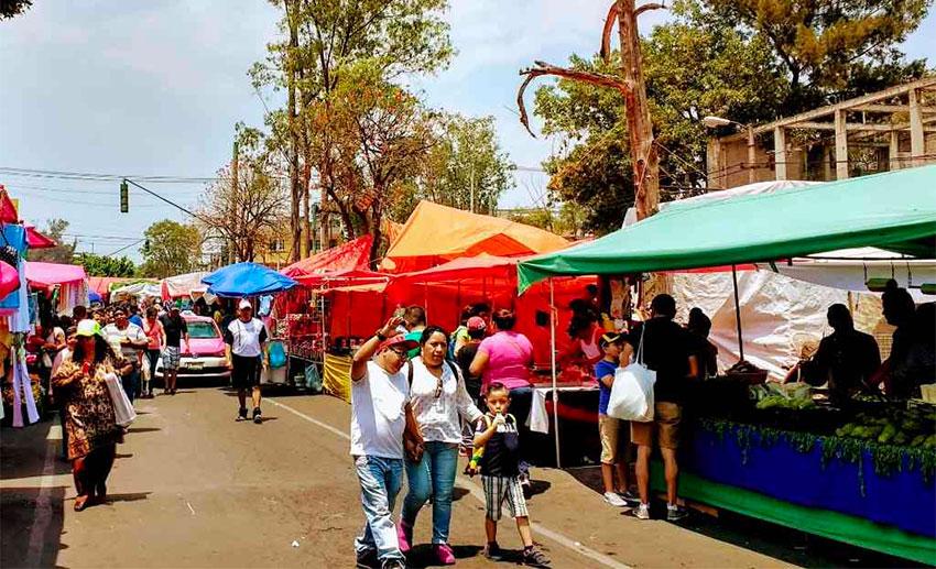 Many tianguis have now been closed by the coronavirus.