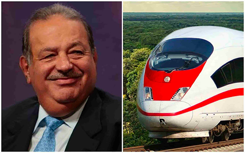 All aboard: Carlos Slim has won the second contract to be awarded for railroad project.
