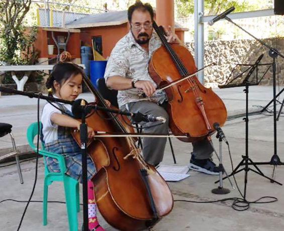 Cellist Alan Durbecq