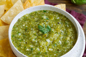 Salsa verde, or green sauce, is simple to make.