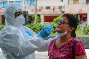 Coronavirus testing began Friday in Acapulco.