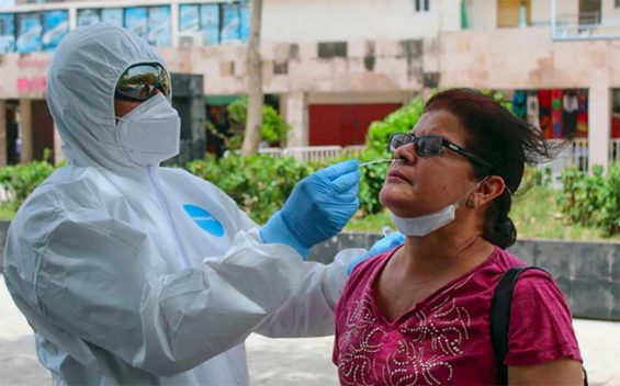 Coronavirus testing began Friday in Acapulco.