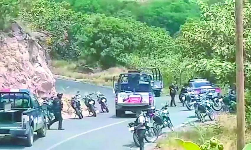 Scene of Sunday's ambush in Guerrero.