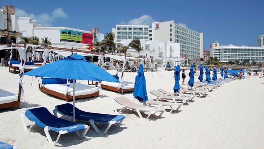 Beaches are closed but 41 hotels are open in Quintana Roo.
